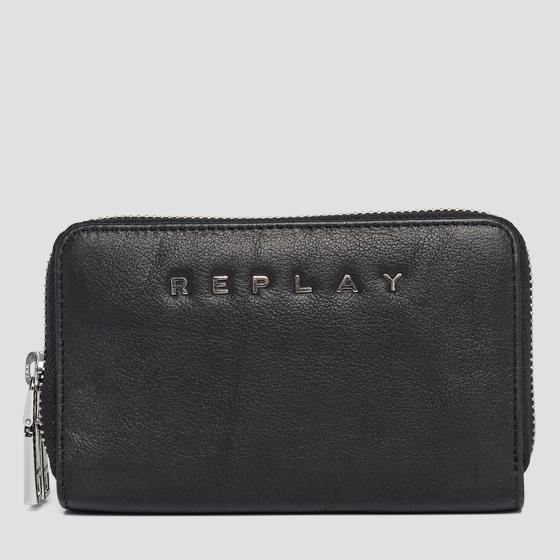 Leather gusset wallet fw5218.000.a3146