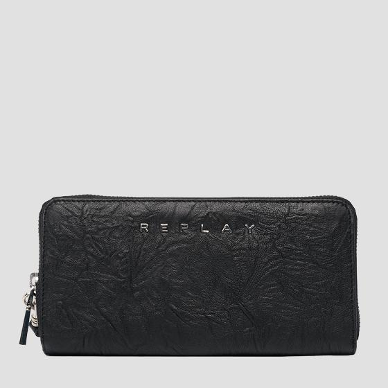 Wallet in crinkle nappa leather fw5243.000.a3174