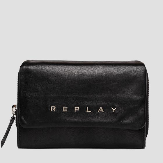 REPLAY wallet in leather fw5267.000.a3187