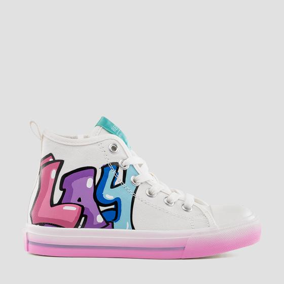 Girls' CABRERA lace up mid cut sneakers gbv24 .000.c0004t