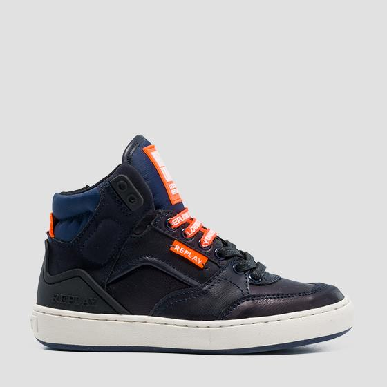 Boys' BOKAI lace up mid cut sneakers gbz19 .000.c0021s