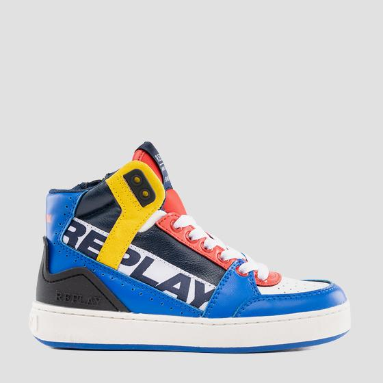 Boys' CAMPOS lace up mid cut sneakers gbz19 .000.c0022s