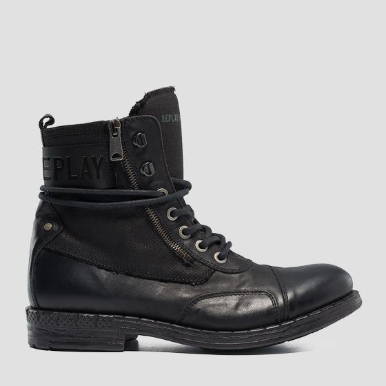 Low boots homme DEPTFORD en cuir à lacets gmc41 .000.c0030l