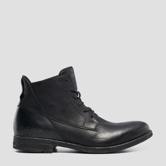 Men's GUNHILL leather mid boots gmc84 .000.c0005l
