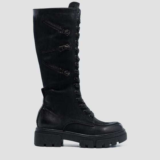 Women's NORE lace up high boots gwl62 .000.c0006s
