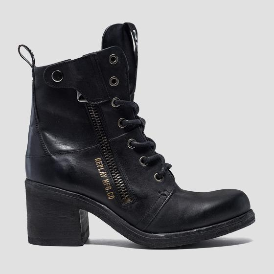 Women's SUNSPOT lace up leather boots gwn47 .000.c0006l