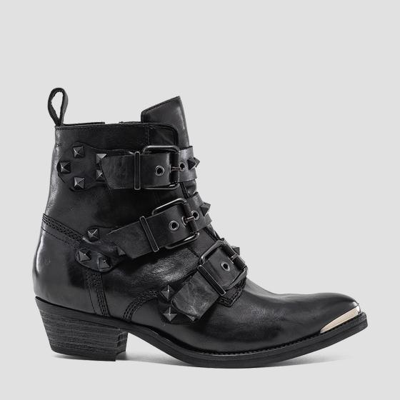 Women's WAINFLEET leather ankle boots gwn63 .000.c0017l