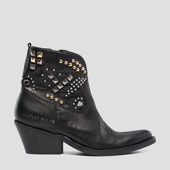 Women's KLEIN leather ankle boots gwn64 .000.c0004l