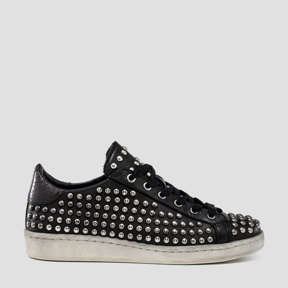 Women's WOODMOOR lace up leather sneakers gwz3i .000.c0003l