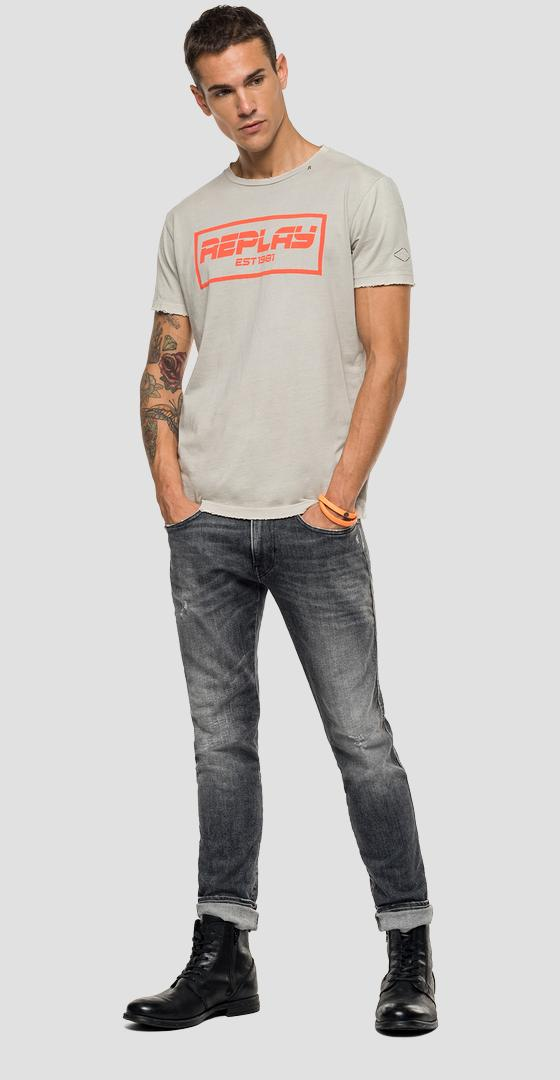 REPLAY t-shirt with raw cut m3027 .000.22038g