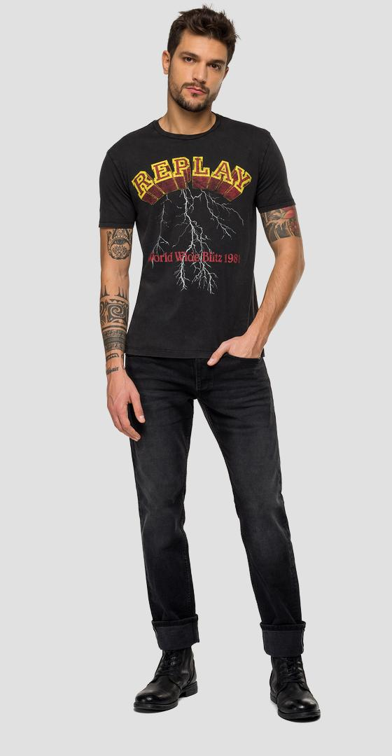 REPLAY t-shirt with murble effect m3042 .000.22658m