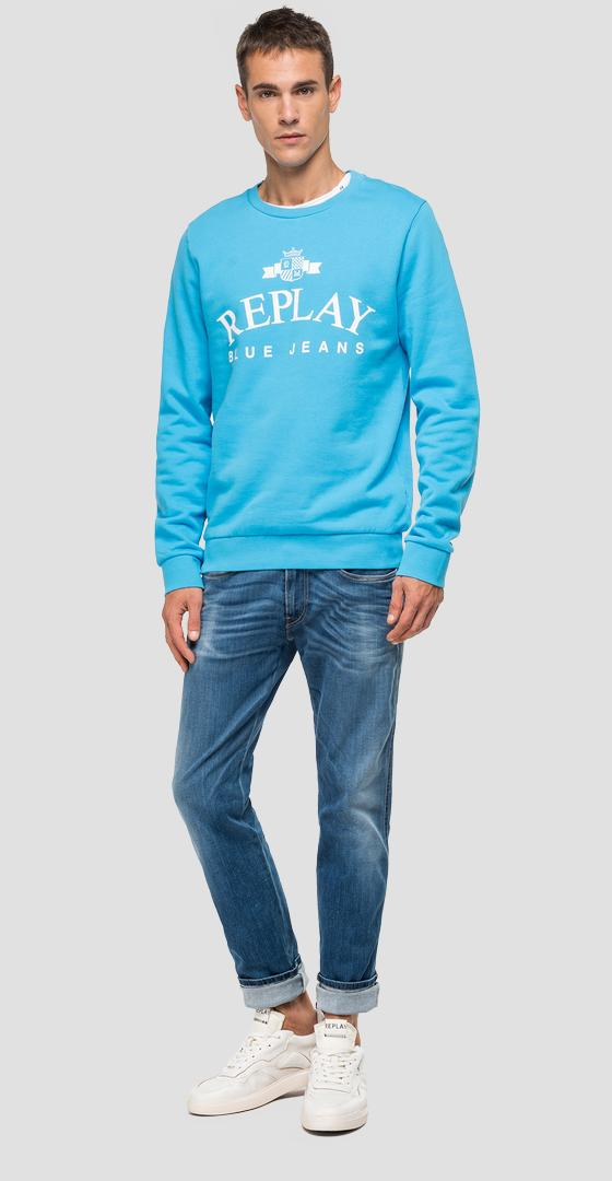 REPLAY Blue Jeans cotton sweatshirt m3080 .000.21842