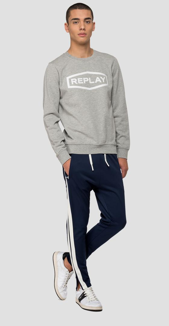 Sweatshirt with diamond and REPLAY writing m3088 .000.22390p