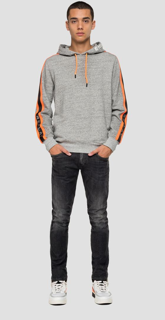 REPLAY sweatshirt with moulinè effect m3099 .000.22664