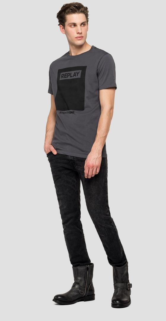 T-Shirt mit REPLAY EIGHTYONE-Aufdruck m3165 .000.22832p