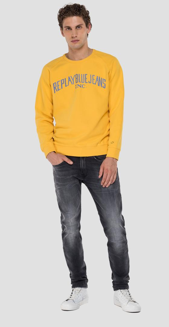 Sudadera con cuello redondo REPLAY BLUE JEANS m3231 .000.22890cs