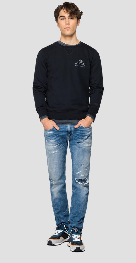 Sudadera REPLAY BLUE JEANS Organic Cotton m3243 .000.23040p