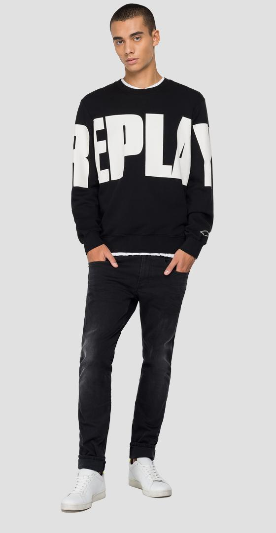 Sudadera con cuello redondo estampado REPLAY m3321 .000.21842