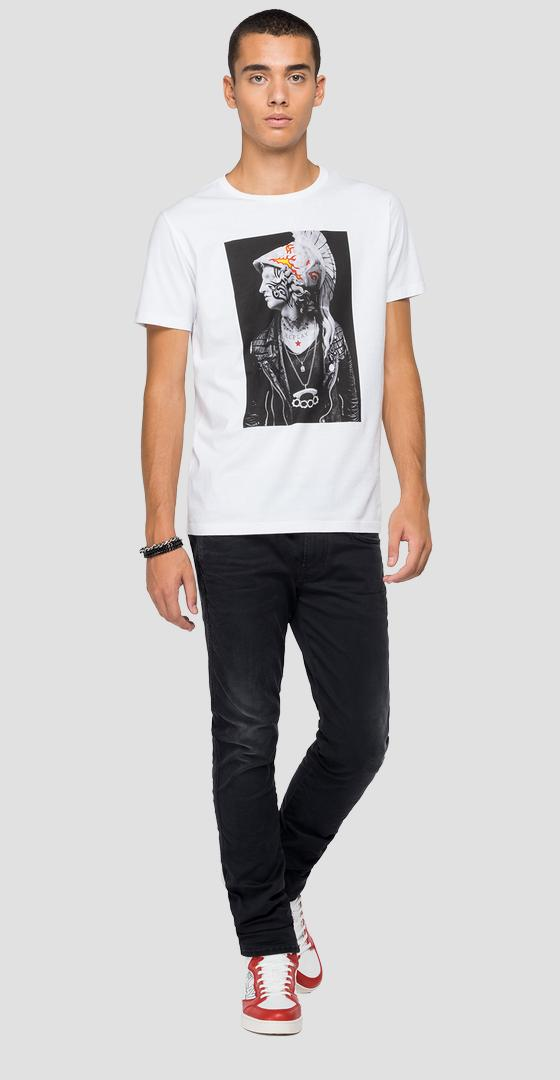 REPLAY t-shirt with tattoo style print m3411 .000.2660
