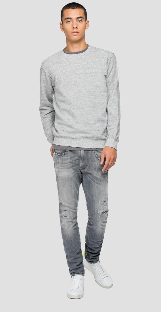 REPLAY-Sweatshirt aus Baumwolle Essential m3440 .000.22664d