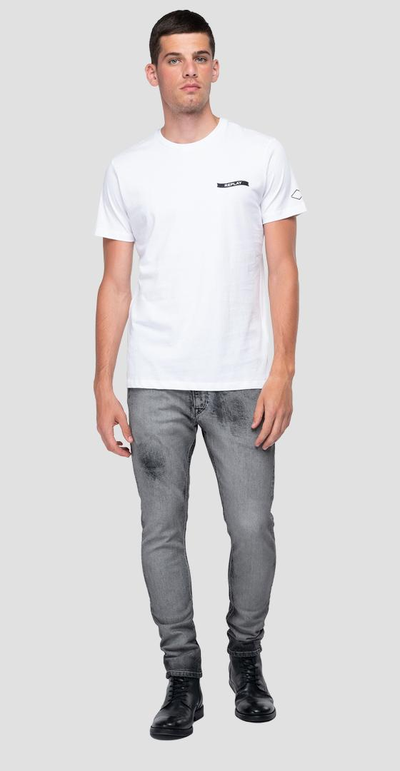 T-shirt in jersey stampa REPLAY m3443 .000.22038g