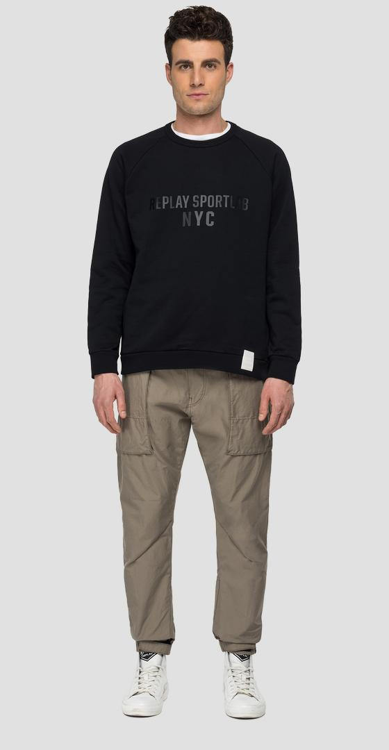 REPLAY SPORTLAB NY crewneck sweatshirt m3470 .000.s23172