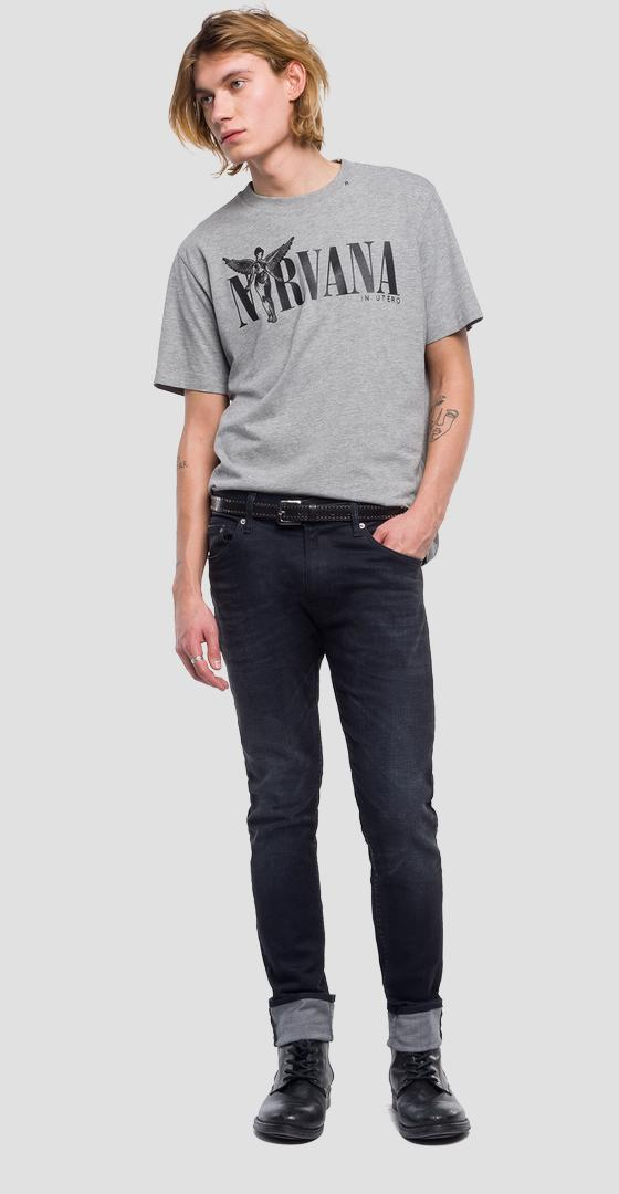 Replay Tribute Nirvana T-Shirt m3663 .000.22628