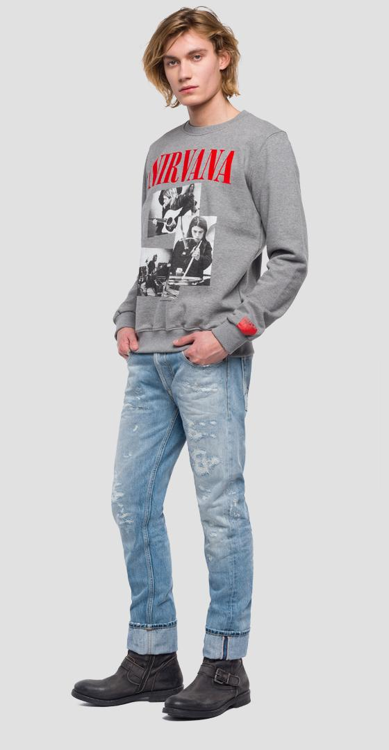 Replay Tribute Nirvana Sweatshirt m3664 .000.21842