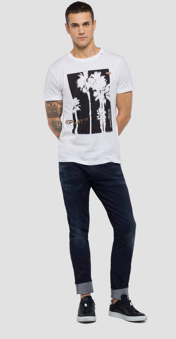 T-shirt with palm tree print m3734 .000.2660
