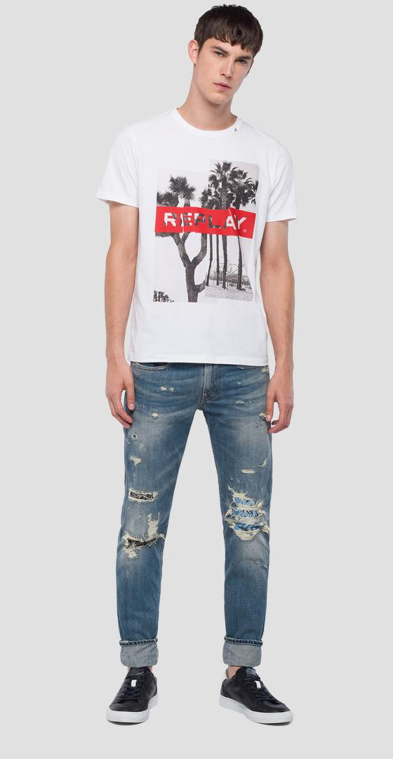 T-shirt with urban print m3736 .000.2660
