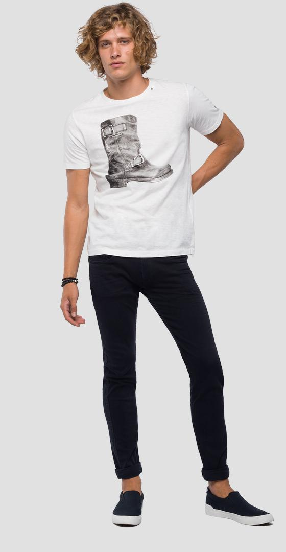 T-shirt with boot print m3746 .000.22336g