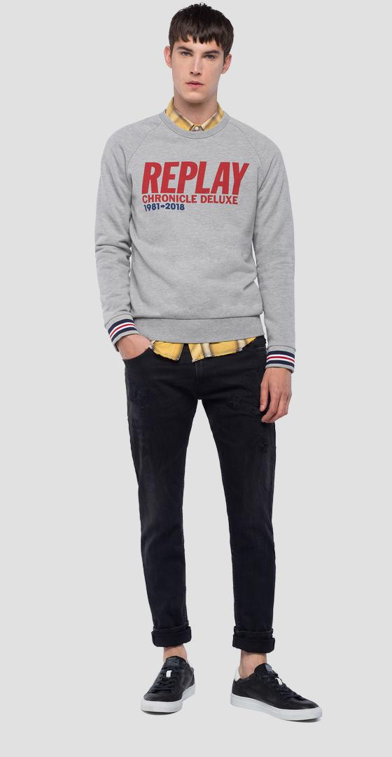 REPLAY CHRONICLE DELUXE sweatshirt m3803 .000.22390p