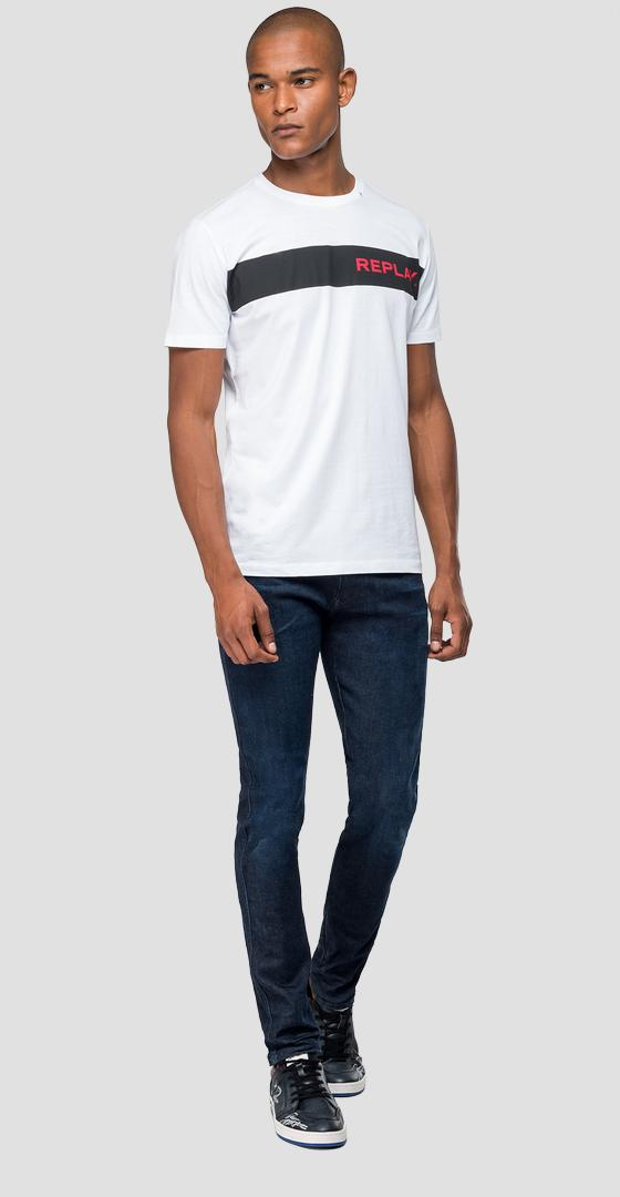 Stripe t-shirt with REPLAY writing m3846 .000.2660