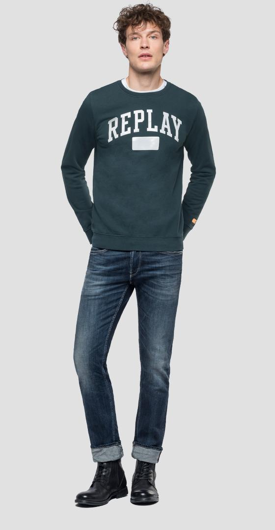 Crewneck sweatshirt with writing m3920 .000.22390p