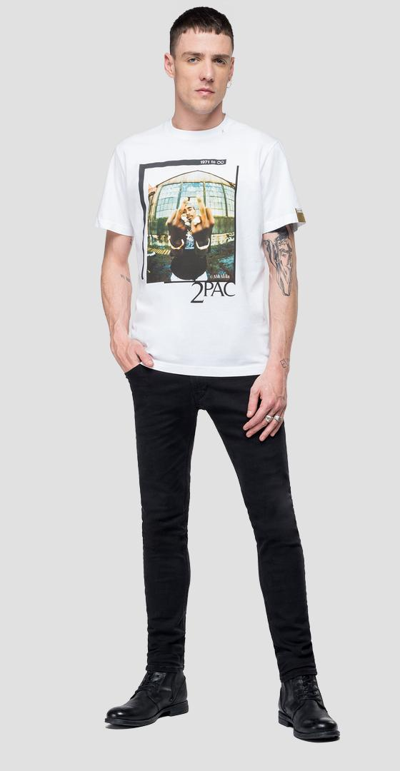 Replay Tribute Tupac T-Shirt Limitierte Ausgabe m3946d.000.22628