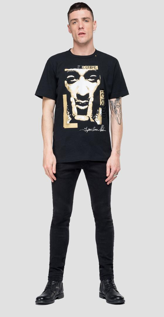 Replay Tribute Tupac T-Shirt Limitierte Ausgabe m3947 .000.22628a