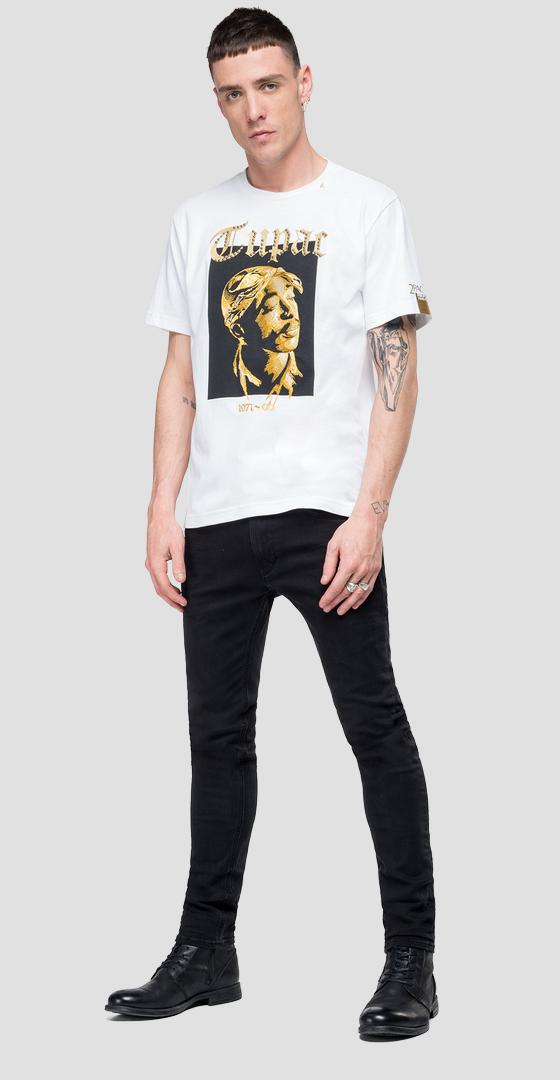 Replay Tribute Tupac T-Shirt Limitierte Ausgabe m3948 .000.22628a