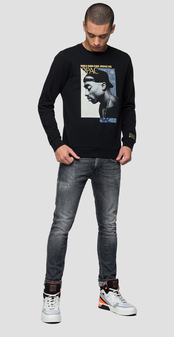 Sweat-shirt Replay Tribute Tupac Édition limitée m3988 .000.21842