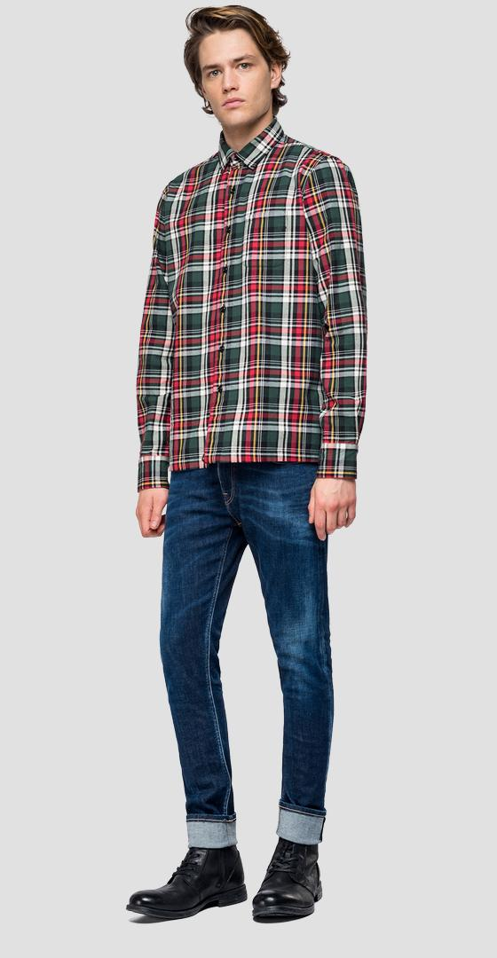 Shirt with checked pattern m4012p.000.52144