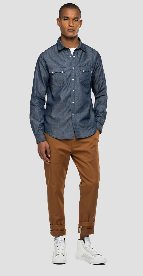 Chemise en denim coupe normale Replay Sartoriale Agender m4022 .000.180 z44