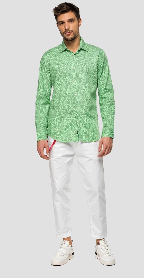Chemise en coton imprimé all-over m4025 .000.71968