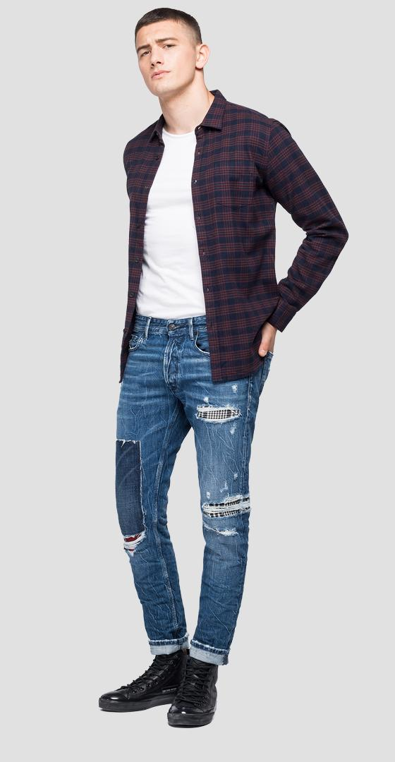 Checked flannel shirt m4038 .000.52338