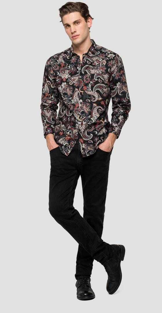 Shirt with paisley print m4038 .000.72166