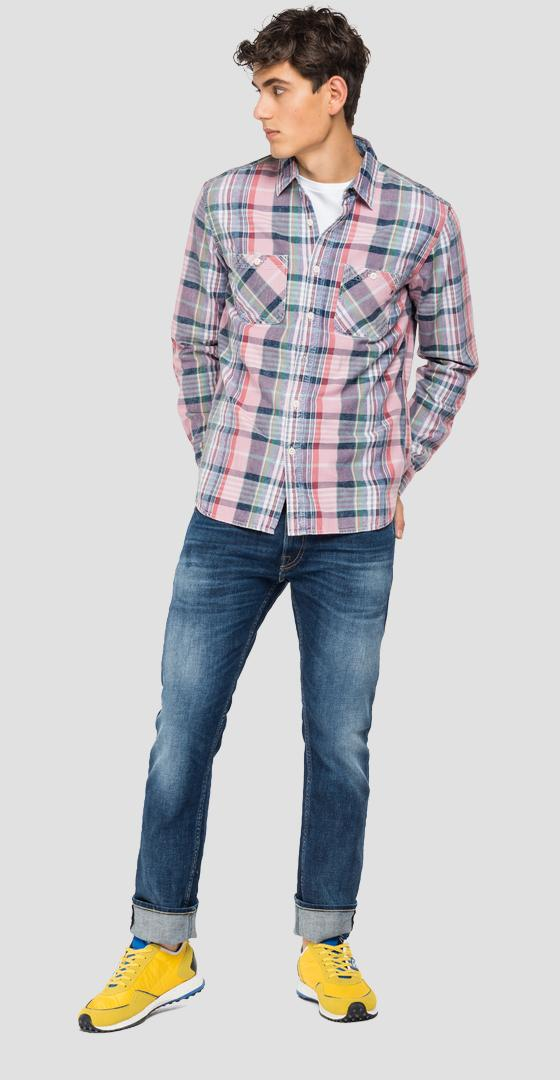 Checked shirt in cotton m4046 .000.52400