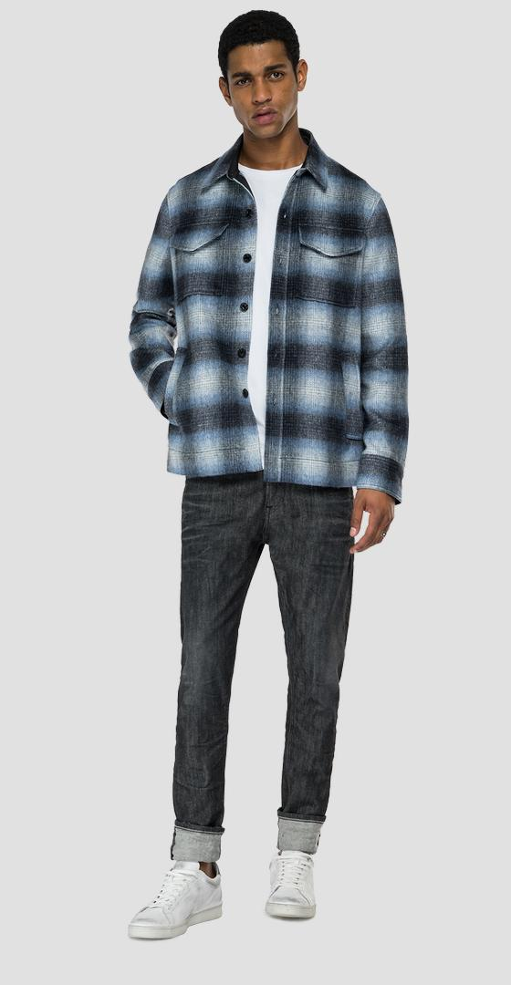 Checked flannel shirt m4048w.000.52464