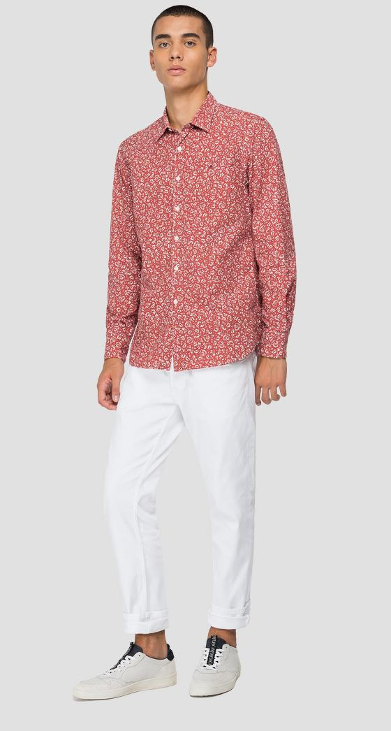 Shirt in printed cotton m4049 .000.72234