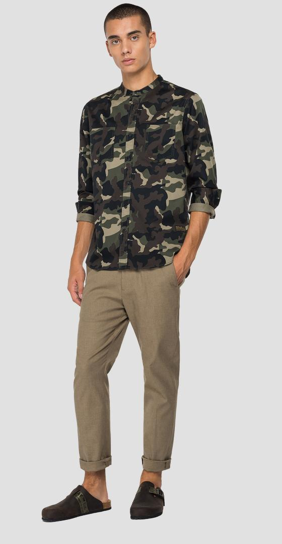 REPLAY shirt in camouflage twill m4051 .000.72302