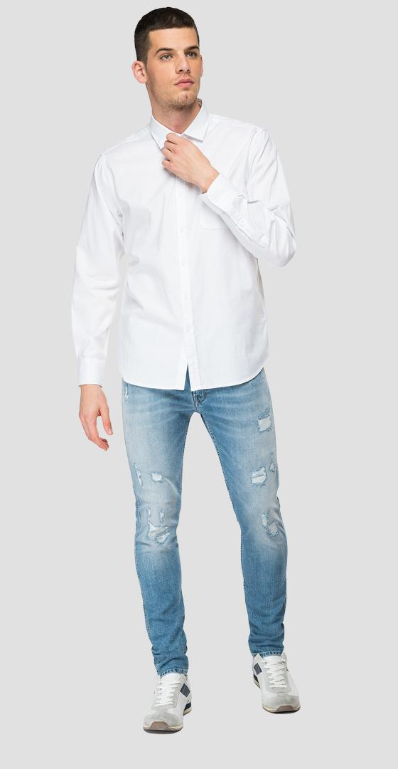 Cotton shirt with pocket m4052 .000.84008g