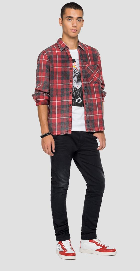 Flannel shirt with checked print m4054 .000.52420