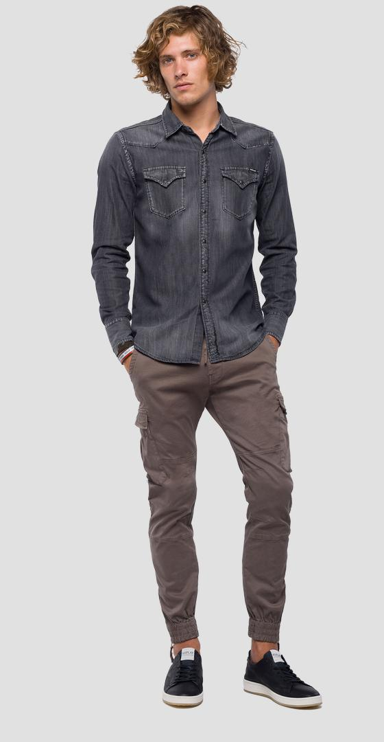 Denim shirt with double pocket m4860z.000.106 414